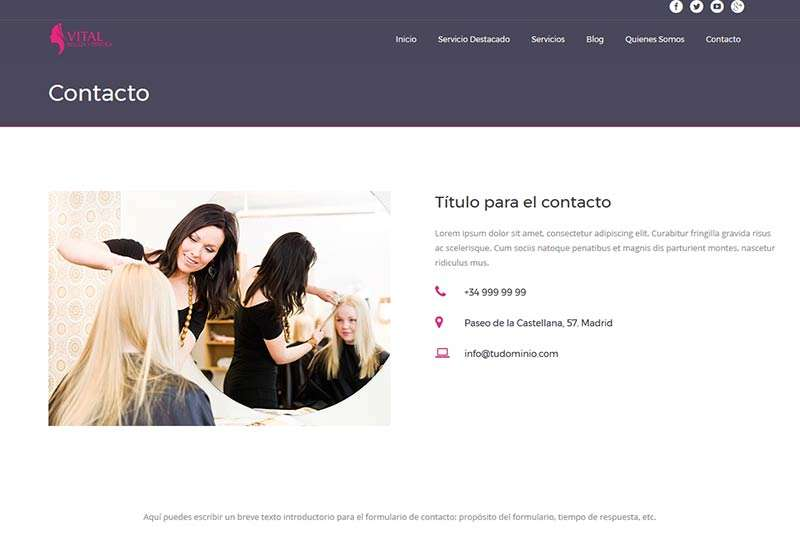 Modelo Madrid detalle sección