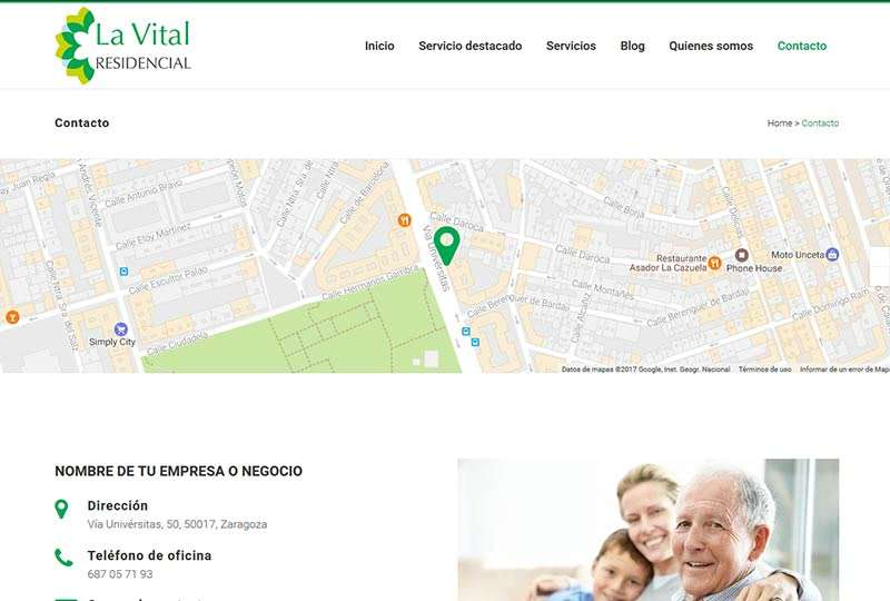 Modelo Zaragoza contacto